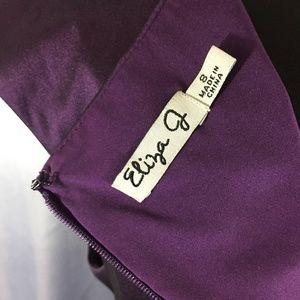 Eliza J Dresses - Eliza J metallic pleated dress